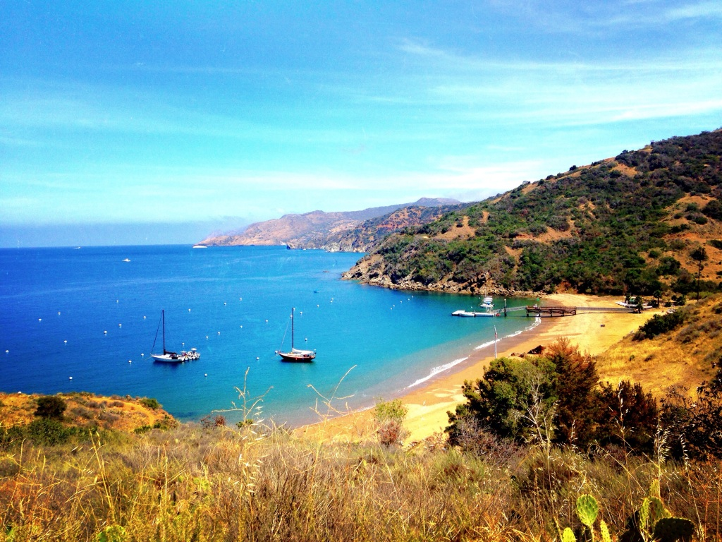 Off the West End Road in Catalina Island