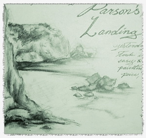 Sketch of Parsons Landing from site #1.