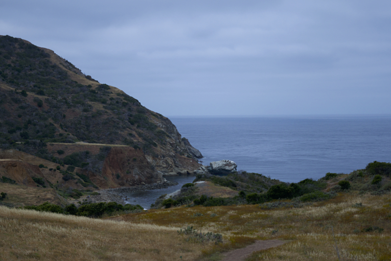 Looking down from the Trans-Catalina Trail at Parson's Landing