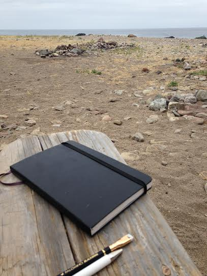 Chillin' with my sketchbook/journal at Parsons Landing.