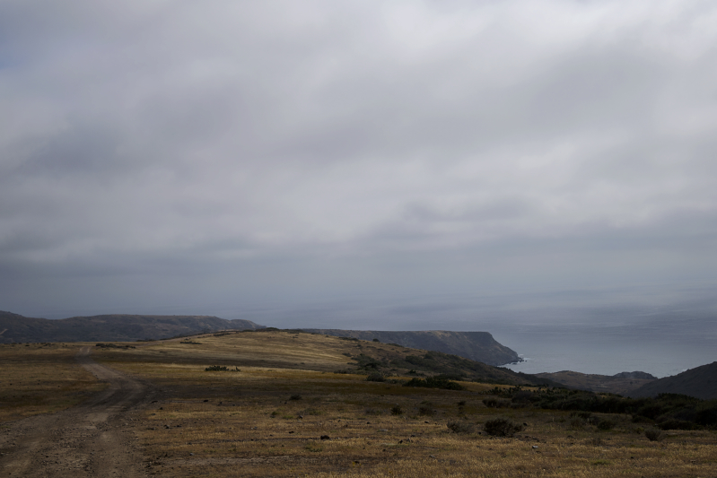 Hiking toward Little Harbor on the Trans-Catalina Trail