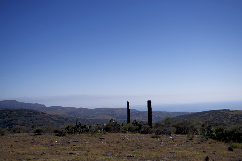 The view just off the ranch at Catalina Island