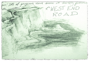 West End Road from Two Harbors Sketch