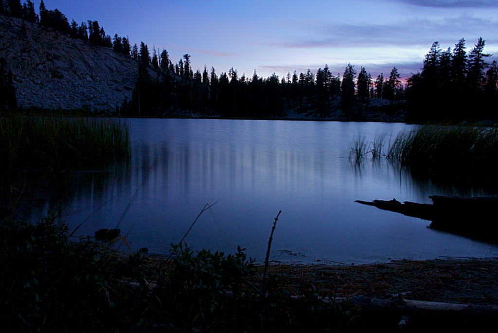 Weaver Lake at Dusk, Jennie Lakes Wilderness, Sequoia National Forest